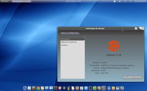 Ubuntu com GNOME 3 e tema Malys Universal